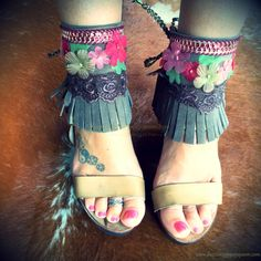 Gypsy Boho Ankle Cuffs - Ankle Belts - Sandal Cuffs
