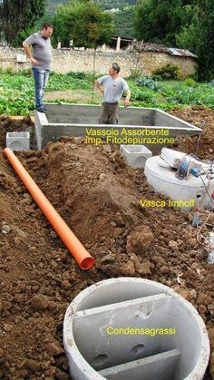 Costruzione impianto di Fitodepurazione nel cantiere di Sossano.