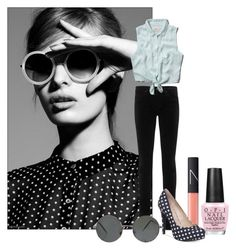 """""""Patterns"""" by ava-l-r ❤ liked on Polyvore featuring OPI, NARS Cosmetics, AG Adriano Goldschmied, Abercrombie & Fitch and BCBGeneration"""
