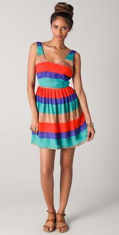 Bb Dakota Covet Striped Tank Dress thestylecure.com