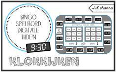 Klokkijken: bingo spelbord - digitale tijden