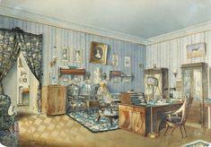 Худ.Редковский Андрей Алексеевич(1831-1909)-интерьер 1860 г.