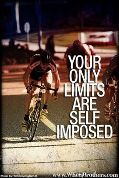 Your only limits are self imposed. #quote #inspiration #motivation