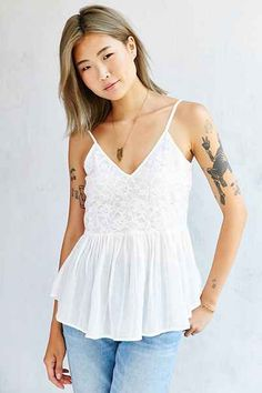 Kimchi Blue Lace-Mix Sara Cami - Urban Outfitters