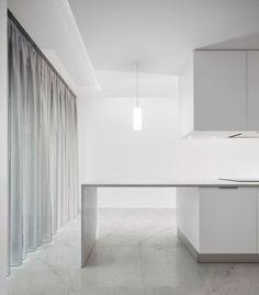 sheer curtains + white
