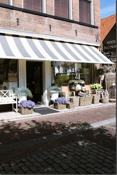 beautiful store front. great use of outside space!