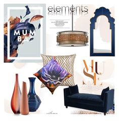 Graphic Elements by arethaman on Polyvore featuring polyvore interior interiors interior design home home decor interior decorating Moss Studio Quoizel Pillow Decor Mirror Image Home Sagebrook Home Cyan Design Incipit Graphic decoranddesign easternelements