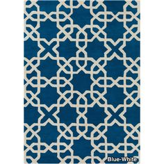 Hand-tufted Moroccan Pattern Wool Rug (5' x 7') | Overstock.com Shopping - The Best Deals on 5x8 - 6x9 Rugs