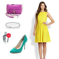 Bright yellow summer dress by BOSS Black in this pretty #outfit #fashion #contest