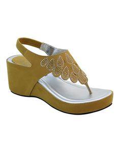 Loving this Yellow Rhinestone Rain Sandal on #zulily! #zulilyfinds
