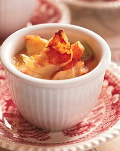 mmm in the mood for lobster. I love you Martha!  Lobster Newburg - Newburg is a traditional New England dish of shellfish in a rich butter sauce flavored with sherry.