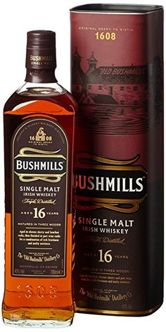 Bushmills 16 Jahre Single Malt Irish Whiskey x Bourbon Whiskey, Scotch Whisky, Oldest Whiskey, Cigars And Whiskey, Whiskey Drinks, Single Malt Irish Whiskey, Tequila, Liqueur, Wine And Beer