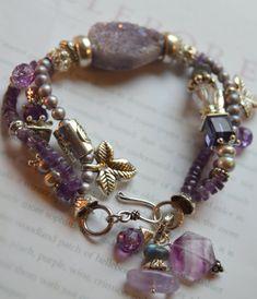 ON SALE chunky charm bracelet drusy bracelet multi by soulfuledges