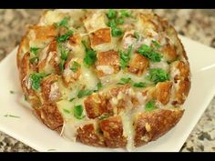 Cheesy Pull Apart Bread With Bacon, Caramelized Onion, & Garlic - YouTube