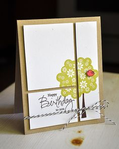 BIrthday Tree Card by Maile Belles for Papertrey Ink (July 2012)
