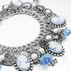 """My jewelry store features handmade jewelry, charm bracelets, necklaces, earrings, this wonderful """"Blue Willow"""" charm bracelet and over 400 more unique jewelry designs. Blackberry Designs Jewelry© Fine"""