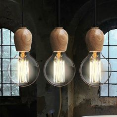 13.00$  Buy now - http://ali6dt.shopchina.info/1/go.php?t=32791347511 - Vintage Edison Pendant Light Oak Wood Retro Pendant Lamp,E27/E26 Holder Hanging Lamp Home Lighting without Bulbs  #magazine