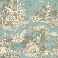 Enchanted Garden Toile Wallpaper