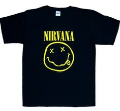 Amazon.com: Nirvana Smiley Face Smile T-Shirt,: Clothing