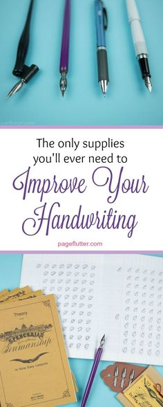 So you want a prettier planner or Bullet Journal? Improve your handwriting! Cursive and lettering are gorgeous.
