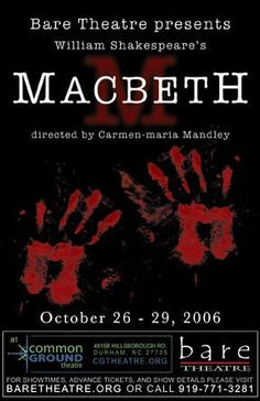 an analysis of the blood theme in macbeth a play by william shakespeare After macbeth kills duncan and his wife smears blood on the  in the opening  scene of the play, the three witches.