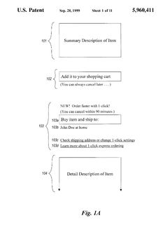 #innovation: Are you an #OnlineShoppingAddict? Do you use Amazon's one-click feature? Here's the #patent.   Protect your IP in Canada: www.wilsonpatents.com
