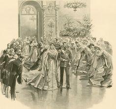 "the-last-tsar: ""Nicholas and Alexandra during their coronation ball; 1896. """