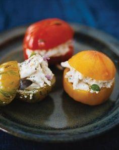 GoNOLA Recipes at Home: Crab Meat and Basil Stuffed Tomatoes - from New Orleans Chef John Besh