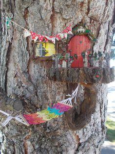 Bohemian Fairy Garden Hammock Crocheted Fabric by FairyElements