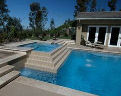 back patio and pool ideas pictures | ... spa-and-pool combo are a popular choice when designing a new pool
