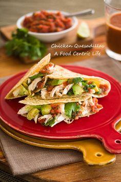 Quick & Crispy Chicken Quesadillas