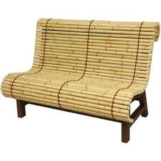 Oriental Furniture Bamboo Bench