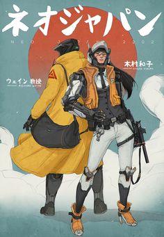 http://johnsonting.cgsociety.org/art/photoshop-neo-japan-2202-kazuko-dr-wayne-sci-fi-2d-1292011