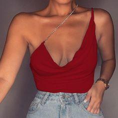 Femme Plaine Cami Combinaison sans manches Caraco Body Cami Débardeur Justaucorps Top