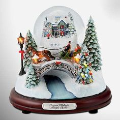 Thomas Kinkade Illuminated Musical Snow Globe