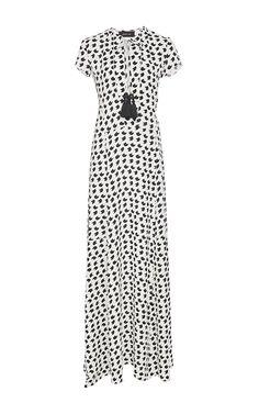 Crescent Print Short Sleeve Gown by Derek Lam for Preorder on Moda Operandi