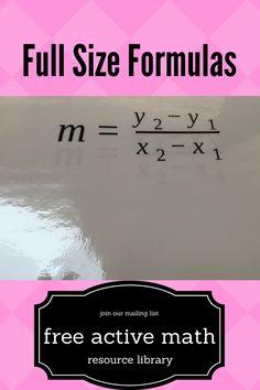 How to make formulas more interactive | full size formulas | read the full blog post here, https://www.themathmentors.com/full-size-formulas/ | active math | algebra 1 | algebra | formulas | equations | slope