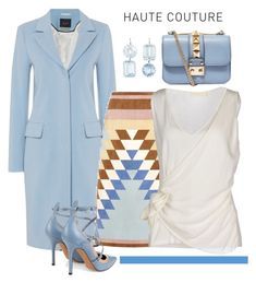 """""""Haute Couture"""" by conch-lady ❤ liked on Polyvore featuring Oui, Valentino, Renee Lewis, women's clothing, women's fashion, women, female, woman, misses and juniors"""