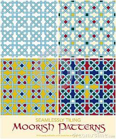 Seamlessly Tiling Moorish Patterns Set by Eyewave, via Dreamstime