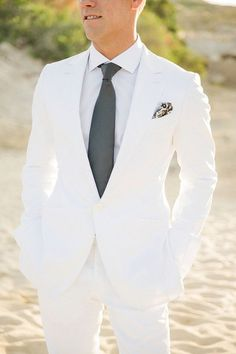 White suit for men going for a wedding. ⋆ Men's Fashion Blog - #TheUnstitchd