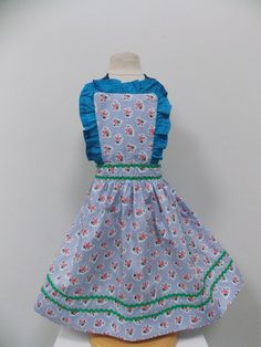 Sugar Plumb Vintage Style Child's Apron – Retro Aprons By Violet Jones Vintage Retro Apron, Aprons Vintage, Vintage Style, Vintage Fashion, Kids Apron, Plumbing, Sugar, Children, Handmade