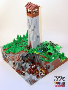 Dwarves storehouse and watchtower: A LEGO® creation by NaNeto ... : MOCpages.com