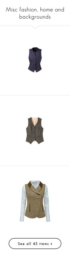 """""""Misc fashion, home and backgrounds"""" by colonae ❤ liked on Polyvore featuring outerwear, vests, ski suits, white, vintage waistcoat, white waistcoat, plaid vest, button vest, sport vest and tops"""