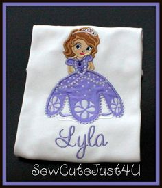 Sophia the First Personalized Tee by SewCuteJust4U on Etsy, $21.00