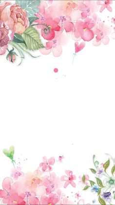 Ideas Wall Paper Floral Pink Backgrounds For 2019 Watercolor Background, Watercolor Flowers, Watercolor Paintings, Flower Backgrounds, Flower Wallpaper, Floral Wallpapers, Iphone Wallpapers, Pink Painting, Painting Flowers