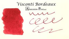 Visconti Red Ink Cartridges Pack of 7