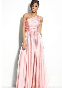 ML Monique Lhuillier Bridesmaids One Shoulder Chiffon Gown (Nordstrom Exclusive) Pink Evening Dress, Formal Evening Dresses, Evening Gowns, Evening Party, Dress Formal, Bridal Dresses, Bridesmaid Dresses, Prom Dresses, Long Dresses