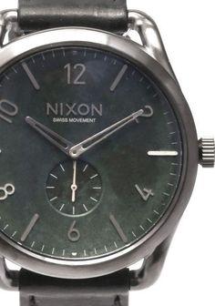 Nixon C45 Leather Gun Green Oxyde