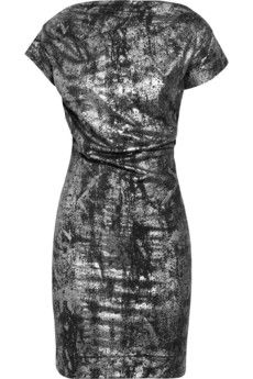 metallic stretch-jersey dress