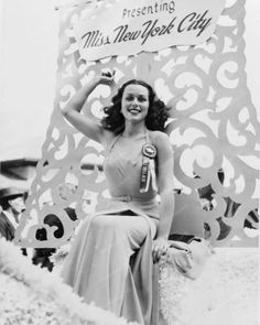 "Bess Myerson as Miss New York City, 1945—later that year, she became the first Jewish Miss America. She ignored pageant officials' suggestion that she compete as ""Beth Merrick,"" deciding that she was ""first and foremost a Jew."" After the pageant, she was denied many of the opportunities in advertising and modeling that winners traditionally receive; she jumped at the chance to work with the Anti-Defamation League on issues like anti-semitism, & spent much of her career in politics from then…"